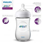 Kit com 3 Mamadeiras Avent Philips Pétala 125ML + 260ML + 330ML